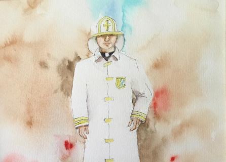 10-Mahlon-Coleman-LA-Fire-Department-Chaplain-WC-14x18-500