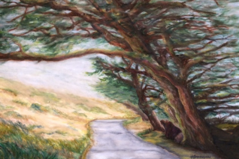 20-Harriet-Sparkman-Uncharted-Journey-Oil-PastelMatted-Framed-O.D.-21H-x-26W-500-copy