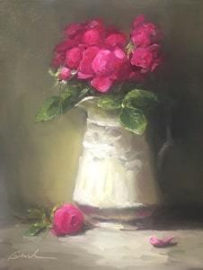 34-Bobbie-Brainerd-Pink-Garden-Roses-Oil-10x8-400-min