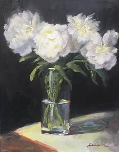 35-Bobbie-Brainerd-Peonies-in-Glass-Vase-Oil-10x8-400-min