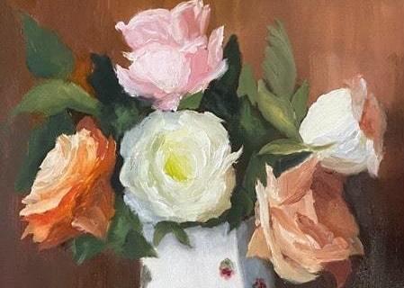 55-Maureen-Serafini-Bouquet-of-Roses-14x11-oil-395-min
